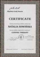 Certificate of Cupping Therapy
