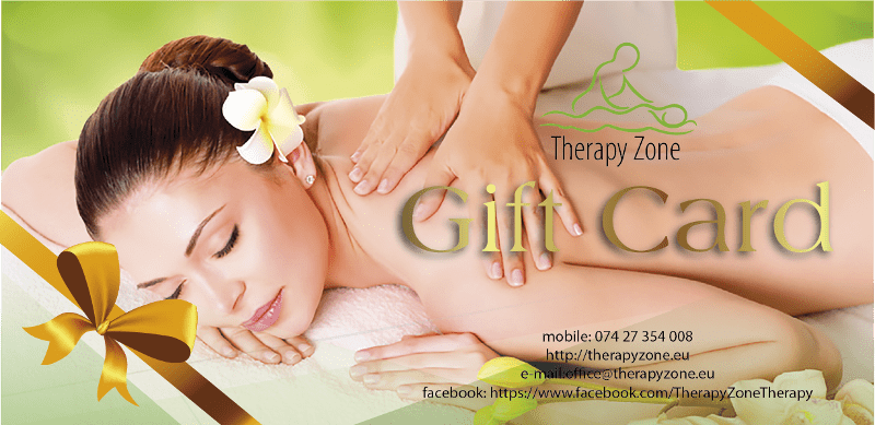 Gift Card Therapy Zone - Professional massage Lisburn